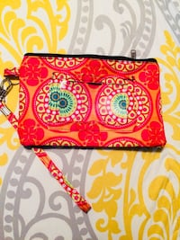 pink and red floral wristlet LaGrange, 30241