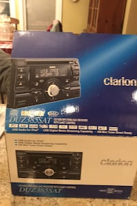 Clarion Car Stereo DUZ385SAT new in box. Double DIN format