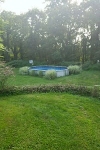 blue and white above ground pool Stormville, 12582