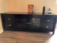 black wooden TV stand with cabinet Springfield, 22150