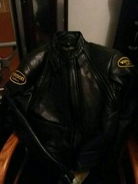 black leather zip-up jacket Vancouver, V6P 2Z2