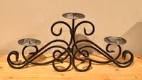 Wrought Iron Candle Stand Forest, 24551