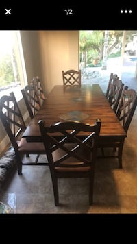 Dining room table with 8 chairs and hutch  San Diego, 92109
