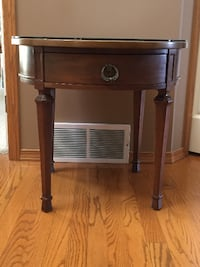 """AN ANTIQUE SOLID WOOD END TABLE FOR SALE Calgary"