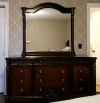 brown wooden dresser with mirror Jackson, 08527
