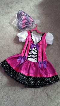 Costume. Glittery pink Butterfly with wings New Tecumseth, L9R 1P3