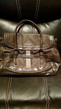 brown and black leather handbag Brampton, L6S