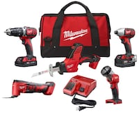 Milwaukee new 5 piece M18 combo set $250 firm Downey, 90241