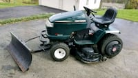 Craftsman riding lawn mower with snow plow Plum, 15239