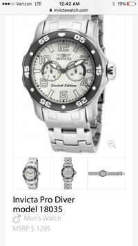 round silver-colored chronograph watch with link b Clearwater, 33765