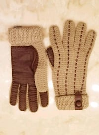 Fall Winter Wool LADY GLOVES Leather Small Med S M Winter Park, 32792