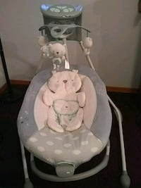 baby's white and gray cradle n swing Odessa, 33556