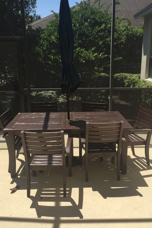 Used Pottery Barn Outdoor Dining Set For Sale In