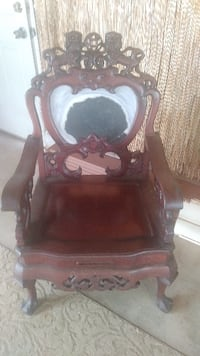 Carved Rosewood chair Point Pleasant Beach