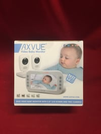 "AXVUE E632 Video Baby Monitor With Two Cameras and 5"" LCD, Night Vision, Tempe Bloomfield, 07003"