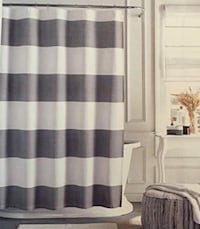 Tommy Hilfiger Cabana Stripe Shower Curtain with Nickel Rings Los Angeles, 90292