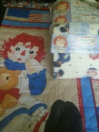 Raggedy Ann & Andy quilt, receiving blanket & High Hendersonville, 28791