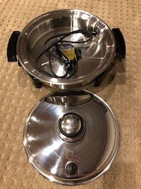Liquid Core stainless steel  electric skillet ,(900 to 120 volts) brand new, never been used Leesburg, 20176