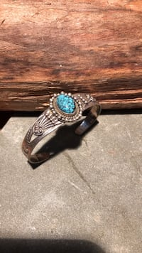 Turquoise and Sterling Silver Cuff (small)  Adamstown, 21710