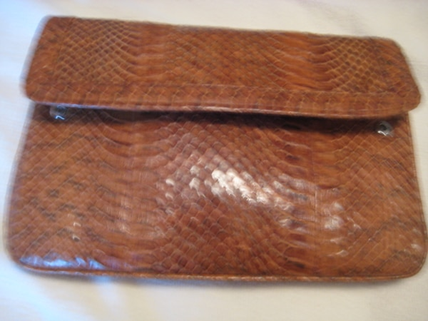 ba78281477ed69 Used Moving Sale - Clutch Bag - Made from real snake skin - New for ...