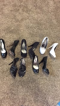 6 pairs of heels, like new size 8. Calgary, T1Y