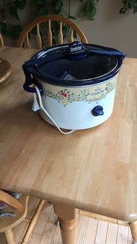 white, green, beige and black floral Rival Crock-Pot slow cooker Purcellville, 20132