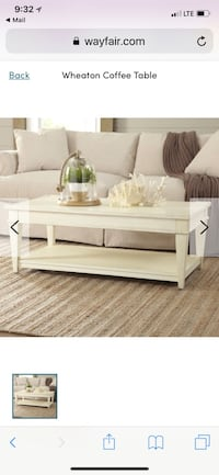 Coffee table on wheels and matching side table Lake Mary, 32746