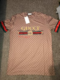 Gray and brown gucci polo shirt size 4XL Manassas Park, 20111