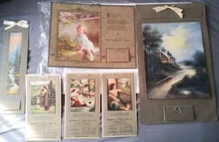 VINTAGE ADVERTISING CALENDARS FROM 1918/1927
