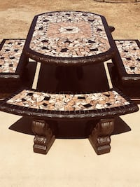 Concrete Patio Table With 4 Benches National City, 91950