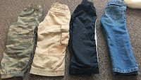 Boy's four assorted colored pants