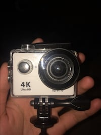 White and black 4K ultra HD action camera go pro Kitchener, N2E 3W1
