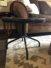 indoor/outdoor metal table with tempted frosted glass Arlington, 22201