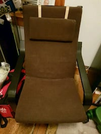 brown wooden framed brown padded armchair 537 km