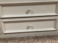 Pottery Barn full size bed frame. Headboard, footboard, 8 drawers and 4 shelves Leesburg, 20176