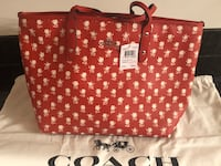 red and white polka dot tote bag Myersville, 21773