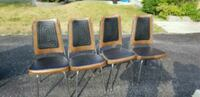 4 brown & black vinyl chairs  Ottawa, K2M 2W3