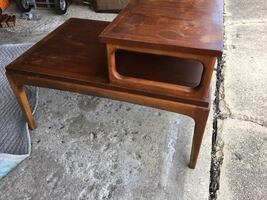 Vintage Pair of Lane end tables. Great shape but need to be refinished.