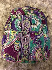 women's green and purple floral print backpack Snyder, 16686
