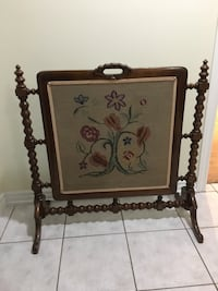 Embroidered Fireplace Screen