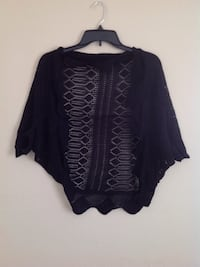 Black knit Shaw cardigan