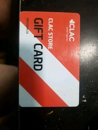 $110 CLAC STORE GIFT CARD
