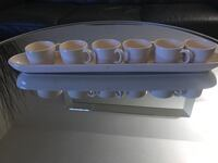 6-piece coffee cups with glass tray plus 4-piece glass coasters & mats Silver Spring, 20910