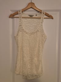 Guess - White Womens Lace front and back top Oakville, L6M