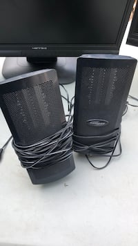 Monsoon computer speakers with RCA plugs   Garden City, 48135