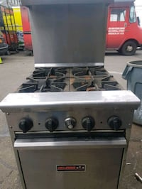 Commercial oven stove