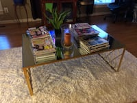 Gold glass mirror coffee table  Bristow, 20136