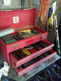 red and black tool cabinet Auburn, 04210
