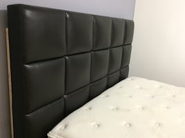 Queen bed frame with mattress