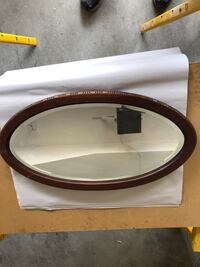 Oval beveled mirror   McLean, 22102